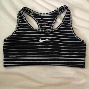 Nike black and white bra